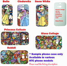 Disney Stained glass princess art phone case for HTC One M7,M8,Blackberry Z10