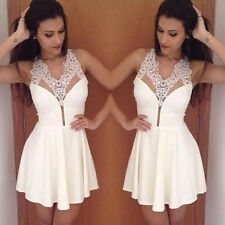 2015 Sexy Women's Summer Bandage BodyCon Evening Party Cocktail Lace MINI Dress