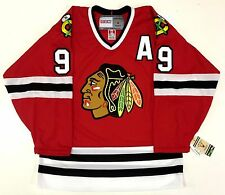 """BOBBY HULL CHICAGO BLACKHAWKS CCM VINTAGE RED NHL JERSEY WITH """"A"""""""