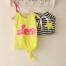New Baby Girls Clothing Set Love Pattern T-Shirt + Striped Skirt 2 Pcs/Outfit