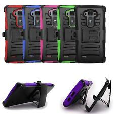 For LG G Flex 2 Phone Case Rugged Cover Kickstand Combo Holster Belt Clip