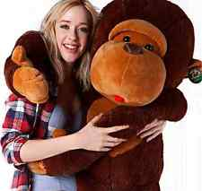 2015 New Cheap Funny Large Stuffed Animal Soft Plush Lovely Brown Monkey Doll