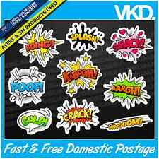 Comic Sound Effects Sticker/ Decal - Kaboom Bang FUNNY JDM Drift Turbo Car 4x4