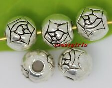 20/100/500pcs Tibet Silver Spacer Beads DIY Jewelry Finding Charms 6mm