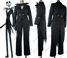 Nightmare Before Christmas cosplay Jack Skellington stripe halloween costume