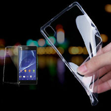 NEW 0.3MM Ultra-thin Transparent Gel Case Cover For Sony Xperia Z1 Z2 Z3 C3 M2