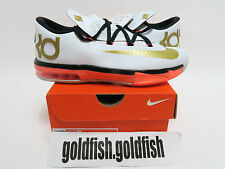 DS NIKE GS KD 6 VI GOLD 599477 100 FLORAL AUNT PEARL GALAXY KOBE