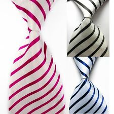 Mens New Silk TIE Wedding Classic Necktie Formal Casual Party Striped Neck Ties