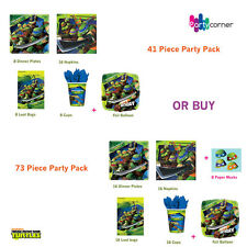 TEENAGE MUTAN NINJA TURTLES   PARTY SUPPLIES 41 OR 73 PIECE PARTY PACKS