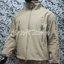 Multiple Size Stealth Hoodie Shark Skin Soft Shell Waterproof Jacket Tan