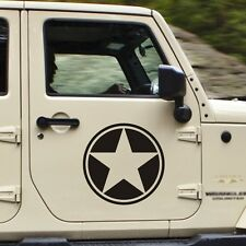 WW2 US Army Willys Jeep Star Optional size/color  Car Military Decal Sticker