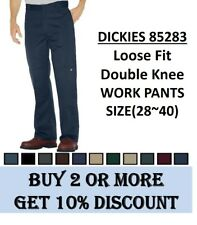 NEW MENS Dickies Loose Fit Double knee Work Pants(#85283) Sizes(28~40), 9 Colors