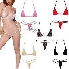 New Sexy Women Micro Thong Underwear G-String Bra Mini Bikini Swimwear Sleepwear