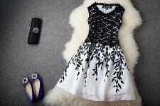 2015 NEW Sexy Women Sleeveless Embroidery Lace Cocktail Evening Party Dress