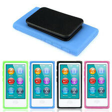 NEW TPU RUBBER GEL SOFT CASE COVER BELT CLIP FOR IPOD NANO 7 7G 7TH GEN S6DS