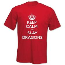 Men's T-Shirt St George's Day Keep Calm and Slay Dragons