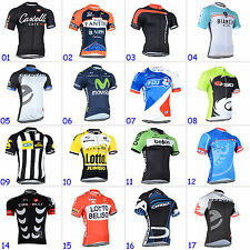 New Mens Bicycle Road Team Cycling Tops Tshirt Short Sleeve Jersey Size S-3XL