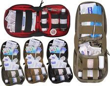 MOLLE Tactical Fully Stocked First Aid Kit Supply Pouch