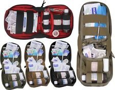 MOLLE Tactical Fully Stocked First Aid Kit Supply Pouch with First Aid Supplies