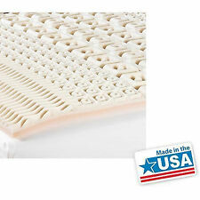 """2"""" 5 Zone Orthopedic Foam Mattress Topper Bed Pad Comfort Soft Bedding Cover NEW"""