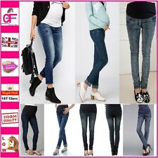 New Over Under Bump Skinny Maternity Jeans Denim Look Trousers 4 Next Season -D0