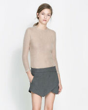 ZARA NUDE BEIGE KNIT JUMPER SWEATER TOP..SIZE M/L MEDIUM LARGE *SOLD OUT ONLINE*