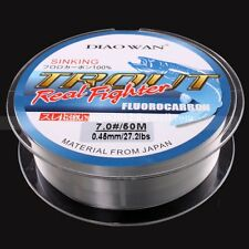 50M Clear Color 4.4LB-35.2LB New FLUOROCARBON Fishing Line Material From Japan