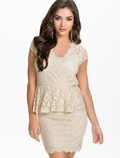 Ladies Lace Bodycon Top Dress Party Cocktail Prom Dresses Size 10 12