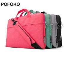 """POFOKO Shoulder carry bag case cover Skin For macbook Air Pro White 11"""" 13"""" 15"""""""
