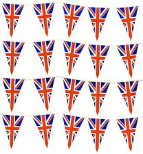 Union Jack Triangle Flag Plastic Party Bunting