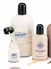 Mehron Liquid Latex Clear Light Dark Flesh Special Effects Professional Makeup