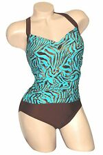 Carol Wior Swimsuit 9-1083 Animal Shirred Front w / Tummy Control NWT
