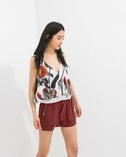 ZARA FLORAL DOUBLE LAYER SLEEVELESS TOP SIZES S / M / L **BUY 1 GET 1 HALF OFF**