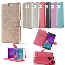 Flip Silk PU Leather Smart Case Cover Wallet Stand For Samsung Galaxy S6 G9200