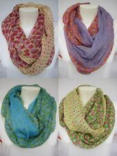 SPECIAL PRICE Round scarf Loop scarf Tube Scarf Roses with Dots Womens Shawl