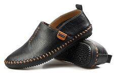 New Mens Casual genuine leather slip on loafer soft fashion Sneaker dress shoes