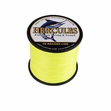 100/300/500/1000M Dyneema Fluorescent Yellow/Green Spectra PE Braid Fishing Line