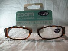 Zoom Impressions Marble Swirl Gray or Blue Reading Glasses +1.25 1.50 2.00