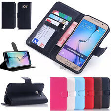 Flip Leather Wallet Photo Card Holder Stand Case Cover For Samsung Galaxy Phone