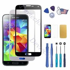 Front Screen Lens Glass Replacement Part Repair Kit for Samsung Galaxy S5 i9600