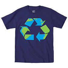 Recycle Logo Print Earth Day Go Green Reduce Reuse Mother Earth-Mens T-Shirt