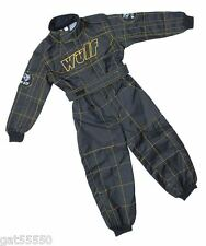 NEW BLACK WULFSPORT BOY GIRL KIDS OFF ROAD OUTDOOR PLAY SUIT QUAD OVERALLS CHILD