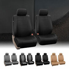 PU Leather Bucket Seat Covers for Seats with Detachable Headrests