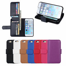 Leather Bi-fold Business Wallet Clip Credit Card Holder Case Cover for iPhone 6
