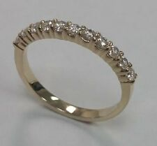 Traditional Bridal 14K Yellow Gold Wedding Band with Diamonds