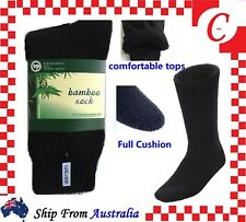 7Prs MEN MENS BAMBOO Thick WORK SOCKS Heavy Duty CUSHION Size 6-11 Bulk