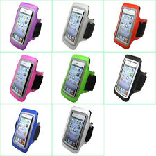 Gym Sports Running Jogging Cycling Armband Leather Case Pouch Cover Holder S6
