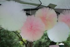 3x TULLE Pom Poms-Matrimonio, Baby Shower, PARTY, COMPLEANNO
