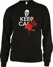 Keep Calm Zombie Blood Hand Print Dead Walking And Carry On Undead Men's Thermal