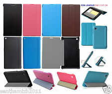 LENOVO TAB 2 A7-30 PREMIUM QUALITY LEATHER FLIP CASE COVER STAND   SCREEN GUARD
